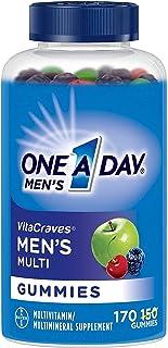 One A Day Men's VitaCraves Multivitamin Gummies, Supplement with Vitamin A, Vitamin C, Vitamin D, Vitmain E, Calcium & mor...