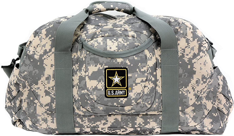 U.S. Army Logo Heavy Duty Large Camouflage Duffel Popular gift brand M 24 Inch Bag