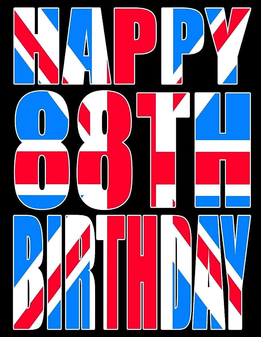 一生感覚稚魚Happy 88th Birthday: Better Than a Birthday Card! Cool Union Jack Themed Birthday Book With 105 Lined Pages That Can be Used as a Journal or Notebook