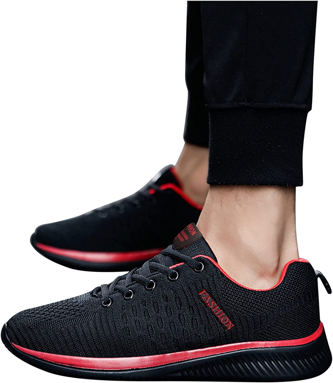 Hbeylia Outdoor Sports Running Walking Shoes For Women Men Fashion Lightweight Lace Up Slip On Flats Sneakers Breathable Mesh Tennis Hiking Athletic Shoes For Boys And Girls Workout Fitness