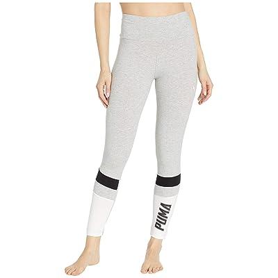 PUMA Athletics Graphic Leggings (Light Grey Heather) Women