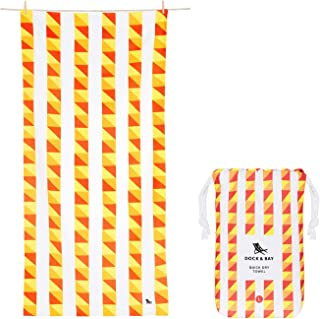 XL Lightweight Beach Towels - Tomatina, Extra Large (200x90cm, 78x35) - Compact, Quick Dry Towels