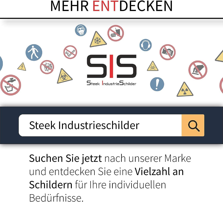 Besteigen f/ür Unbefugte verboten Aufkleber /Ø 5 cm wetterfest 10 St/ück