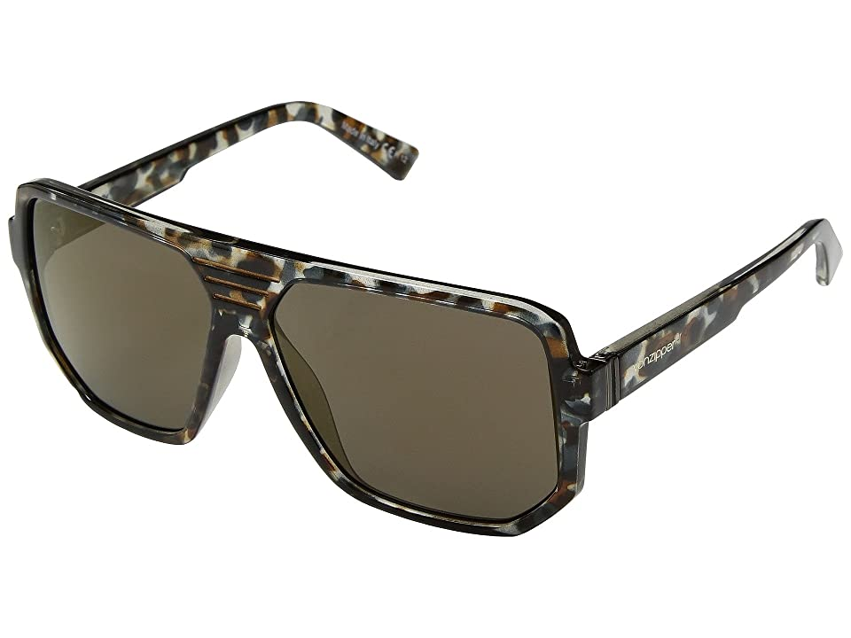 VonZipper Roller (Quartz Tortoise/Copper Chrome) Athletic Performance Sport Sunglasses