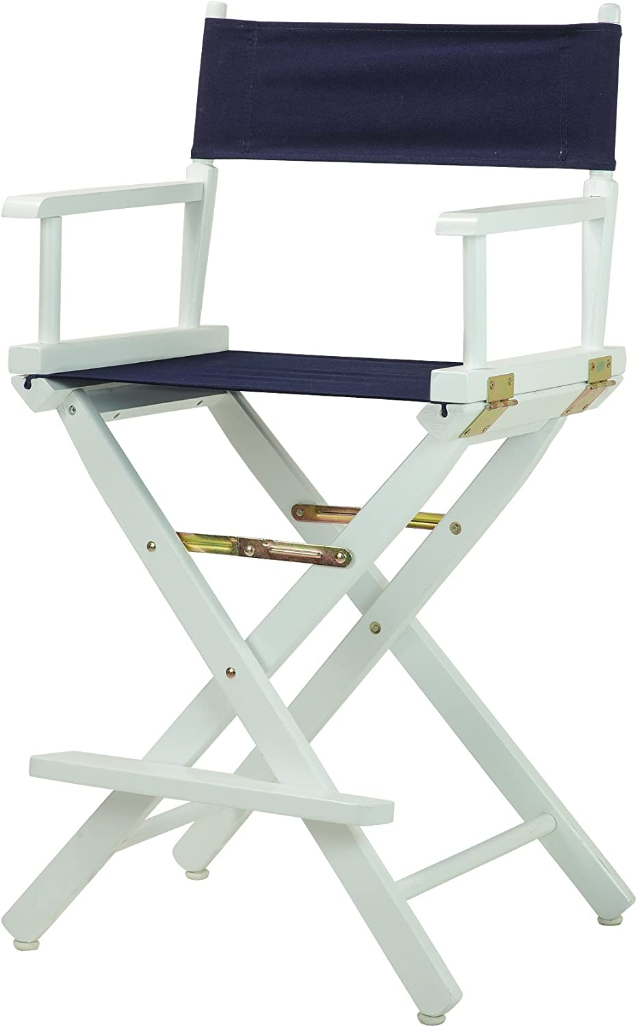 Casual Home 24-Inch Director Chair White Frame, Navy bluee Canvas