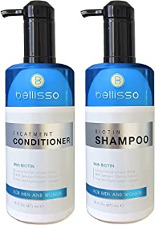 Biotin Shampoo and Conditioner for Hair Growth | Thickening Anti Hair Loss Shampoo Treatment | Regrowth Shampoo & Conditioner for Oily & Color Treated Hair