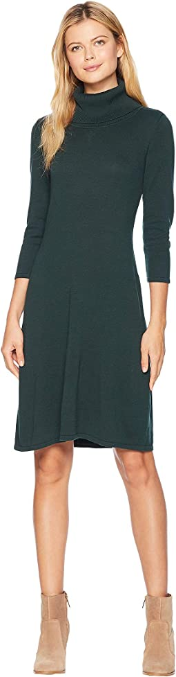 Cowl Neck Fit & Flare Knit Dress