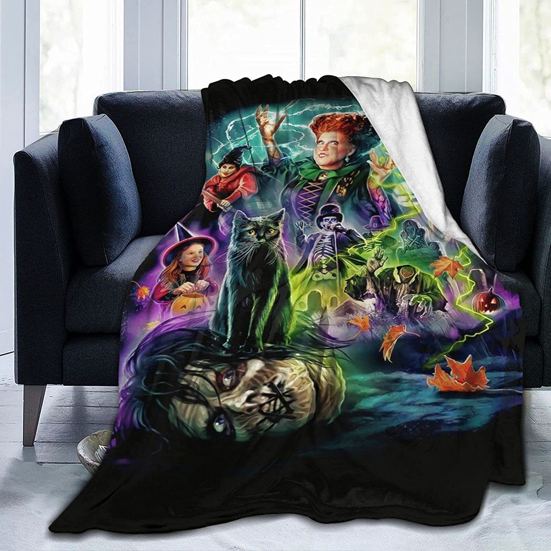 Hocus Pocus Blanket Bedding Max 61% OFF Flannel Purchase Throw Soft Microfiber Fleece