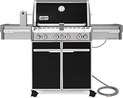 Weber 7271001 Summit E-470 4-Burner Natural Gas Grill, Black