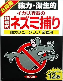 イカリ消毒 ネズミ忌避剤 強力チュークリン業務用 12枚入 粘着式