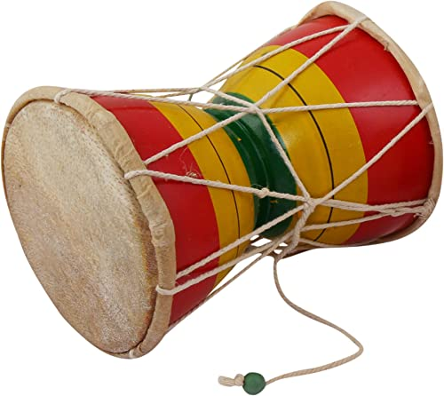 JUAREZ NDM6 Nawaab 6 Inch Damru Hand Percussion Handmade Indian Musical Instrument