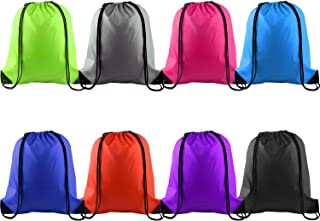 KUUQA 8 Pcs Drawstring Backpack Bag String Bag Sack Cinch Tote Gym Bag Storage Backpack Bulk for School Gym Sport or Traveling, 8 Colors