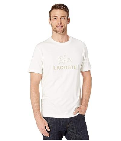 Lacoste Short Sleeve Supple Jersey Graphic Anim T-Shirt Regular (Flour) Men