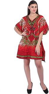 Women Short Kaftan Dress Top Polyester Casual Wear Maxi Polyester Dress