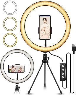 ELEGIANT 10.2インチ LEDリングライト 自撮りライト ビデオカメラ撮影 アルミ合金シェル 美容化粧 11段階調光 2700-5500K 三脚スタンド 生放送 YouTube