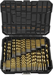 EnerTwist Titanium Drill Bit Kit Set for Metal and Wood 230-Piece - Coated HSS Conventional 118° Tip from 3/64
