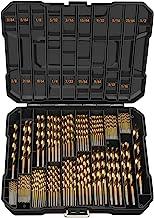 EnerTwist Titanium Drill Bit Kit Set for Metal and Wood 230-Piece – Coated HSS..