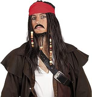 (Pirat Perucke Mit Bart 86343) - Pirate Jack Sparrow Style Wig with Beard, Moustache and Bandana