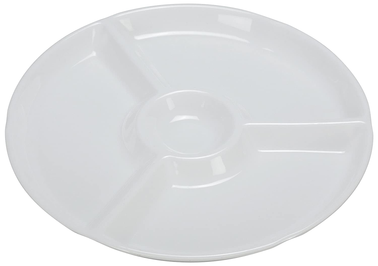 Yanco RM-821 Rome Quality Selling inspection 4-Compartment Plate Round 1 12.25