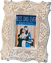 ETROVES 4 x 6 Inches Shabby Chic Photo Picture Frame - Rustic Handmade Wooden Distressed Vintage Style - Antique Table Top Wall and Shelf Display Frames - Home Decor