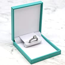 Gems on Display Teal Slim Jewelry Engagement Proposal Wedding Ring Box