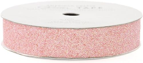 Glitter Paper Tape 3 Yards Spool-Peony .625