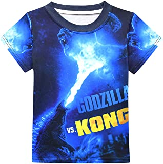 Kids Monster Shirt King Tees for Boys and Girls 6-16 3D Printing Kong Shirt