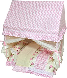 Creation Core Romantic Pet Puppy Cat Bed House with Canopy Mosquito Net Pillow Quilt