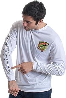 Fishing Ruler | Long Sleeve Wicking Fisherman Shirt w/Ruler on Forearm T-Shirt White