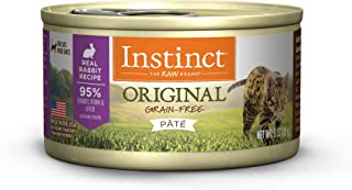Nature's Variety Instinct Grain-Free Rabbit Canned Cat Food, Case of 24