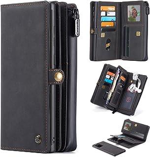 Mdkrz Galaxy Note 20 Ultra Wallet Case,Multi-Functional PU Leather Purse Flip Cover Zip Wallet Case [17-Slots]ID&Credit Ca...