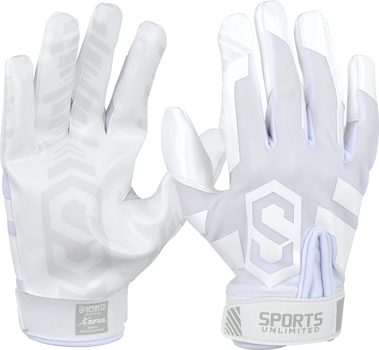 Sports Unlimited Clutch Adult Receiver Football Gloves : Sports & Outdoors