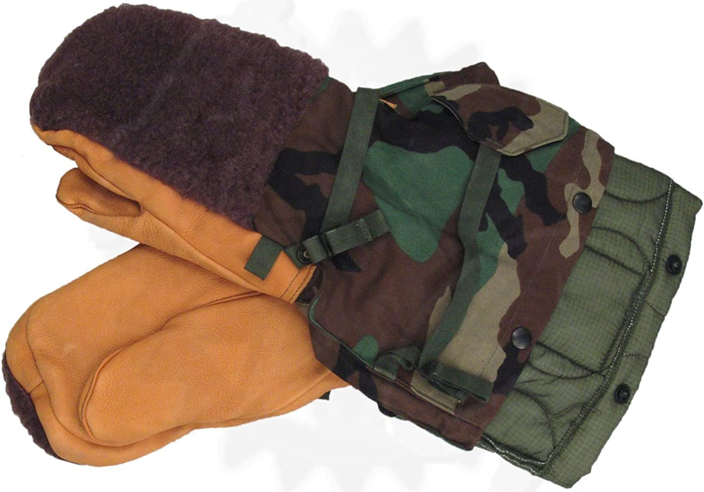 Woodland Camo GI Cold Weather Mitten Set Army Surplus Made in USA