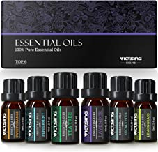 VicTsing Essential oils, TOP 6 Pure Aromatherapy Oils Set, Essential Fragrance Oil Set for Women, Men, Diffuser, Humidifie...