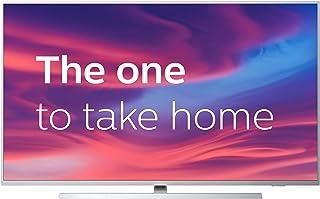 Televisor Philips Ambilight 43PUS7304/12 Smart TV de 108 cm (43 pulgadas) con 4K UHD, LED TV, HDR 10+, Android TV, Google Assistant, Dolby Atmos y compatibilidad con Alexa, color plata claro