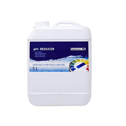 NortemBio Pool pH- Minus 5 L, Reductor pH Natural para Piscina y SPA.
