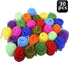 Blovec Juggling Silk Scarves, 30 pcs Square Dance Scarf Magic Movement Scarves Performance Props Accessories 24 by 24 Inch in 10 Colors