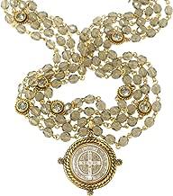 VSA Designs - Virgins Saints and Angels Miraculous San Benito Magdalena 6mm Gold Black Diamond