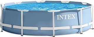Juego Pool con accesorios Jardín Piscina Prism 305x 76cm Metal Frame Piscina Intex 28700