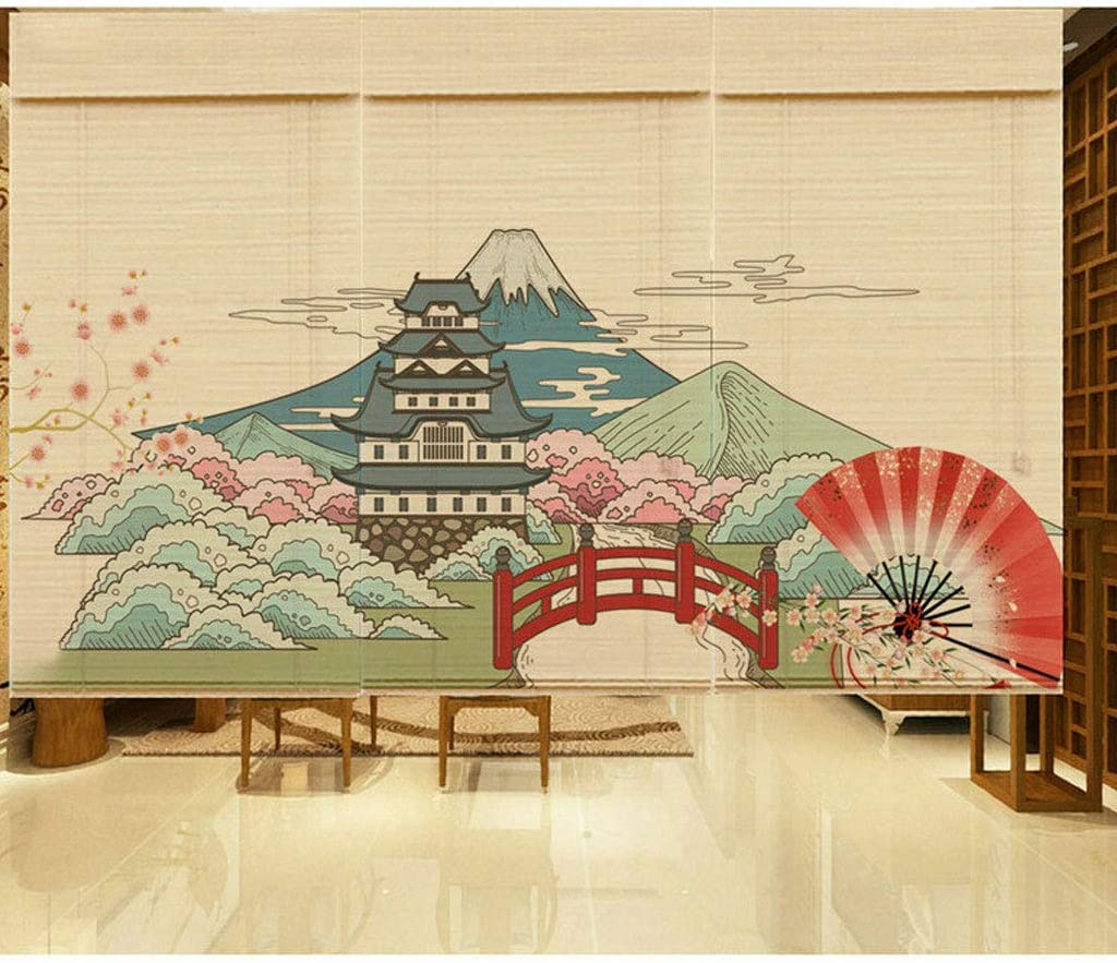 SHENRQIA Bamboo Sacramento Mall Blind Japanese-Style NEW before selling ☆ Printing Comb Roller