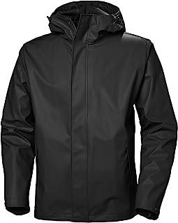 mens Moss Hooded Waterproof Windproof Raincoat Jacket