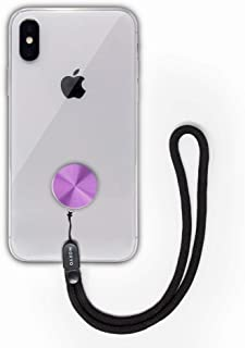 MOXYO - Zigi Band - Universal Cell Phone Lanyard and Wrist Strap, Works with All Smartphones and Tablets Including iPhone and Galaxy & Most Cases (Purple Anodized w/Blk Lanyard)