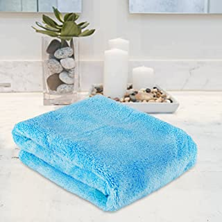 Bath Towel, Face Hand Towel Super Absorbent Clearance Prime Ultra Soft Smoothness Cotton Washcloth Lightweight Fast Dry Durable Washing Facecloth Shower Towel for Shower Bathroom Gym Sports - Blue