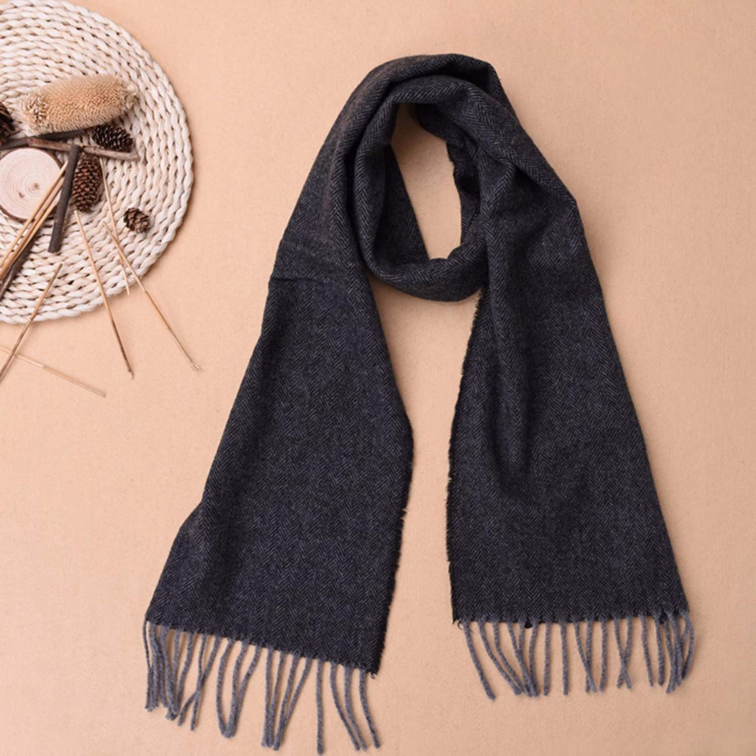 Cashmere Scarves, Women's Thickening, Warm Collar and Long Neck.