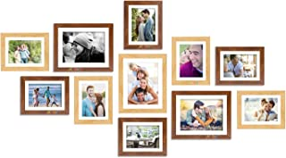 Art Street Beige & Brown Set of 11 Individual Wall Photo Frames/Wall Hanging with Free Hanging Accessories (8x10-3 pcs, 6x...
