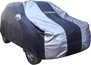 Amazon Brand - Solimo Maruti Vitara Brezza Water Resistant Car Cover (Dark Blue & Silver)