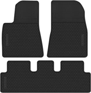 Floor Mats Liners Replacement for Tesla Model 3 2017 2018 2019 2020 Black All Weather Car Carpet Front and Rear Heavy Duty Rubber