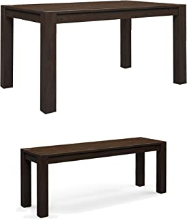 Better Homes & Gardens Bryant Dining Table, Deep Coffee bundle with Better Homes & Gardens Bryant Dining Bench, Deep Coffee