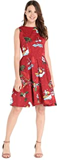 Hawaii Hangover Women's Vintage Fit and Flare Dress in Christmas Santa in Hawaii