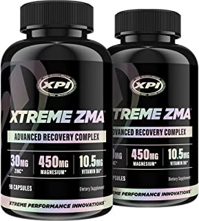 Xtreme ZMA 90 Caps (2 Pack) - Muscle Recovery - Post Work Out Supplement, Work Out Supplements